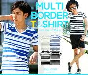 ボーダー Tシャツ ランダム トップス ファッション インプローブス