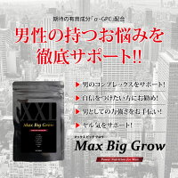 MAXBIGGROWα-GPCシトルリン亜鉛マカアルギニンBCAA配合男性自信増大サプリ