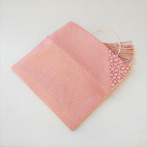 ちりめん桜小紋数珠袋ピンク