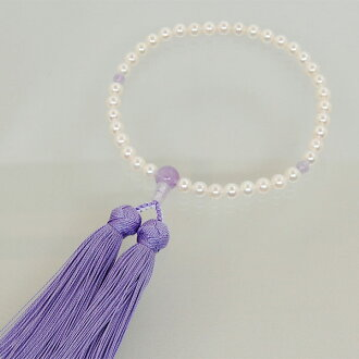 Rosary ladies genuine Pearl Wisteria 雲石 with