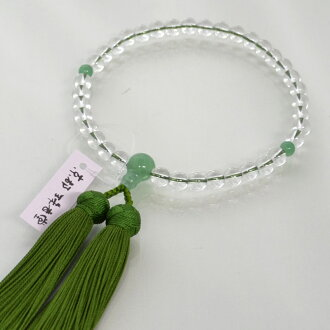 Rosary for women with one hand Crystal Jade with pure silk temari bunch