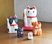 招き猫 マトリョーシカ はりこーシカ まねきねこ 猫 張子 和紙 ギフト プレゼント