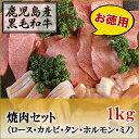 国産黒毛和牛 焼肉セット ロース/カルビ/タン/ホルモン/ミ...
