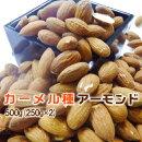 《ミニパックおまけ付》【カーメル種使用/焙煎】素焼きアーモンド500g
