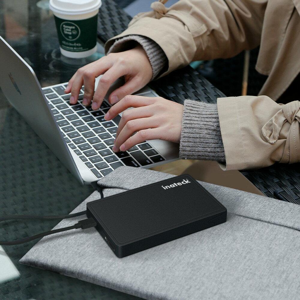 Inateck SATA to USB-C外付けハードドライブエンクロージャ、9.5mm&7mm 2.5インチHDD / SSD用、USB C to Cケーブル付き、UASPサポート、工具不要(FE2005C)