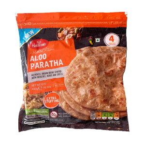 【クール便配送】【ALOO PARATHA 400g】【HALDIRAM】アルーパラタ【ハルディラム】【冷凍食品】【パラタ】【全粒粉】ハルディラム(4枚入り)