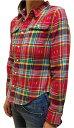 【RALPH LAUREN】ラルフローレン ガールズ 14歳(L)?16歳(XL)GIRLS チェックシャツ 313508417 RED MULTI 赤(レディース対応)【あす楽】