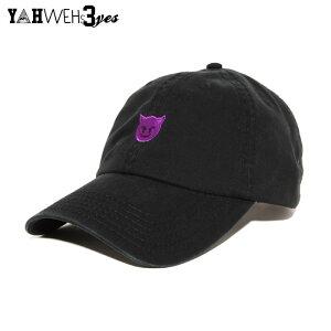 【送料無料】YAHWEHS EYES STRAP BACK CAP【BLACK】【DEVIL】(通販 メンズ レディース 男 女 兼用 帽子 キャップ アジャスター ストラップバック ブラック ヤハウェズアイズ)