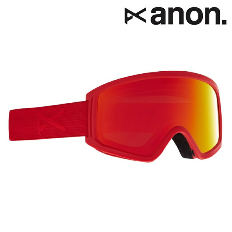 スキー・スノーボード用アクセサリー, ゴーグル anon Kids Anon Tracker 2.0 Goggle - Asian Fit 20-21 FrameRed LensRed Solex
