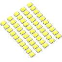LEDチップ SMD 1608 (インチ表記0603) ホワイト 白発光 50個 ...