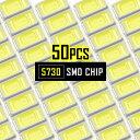 LEDチップ SMD 5730 ホワイト 白発光 50個 打ち替え 打ち換え DIY 自作 エアコンパネル メーターパネル スイッチ
