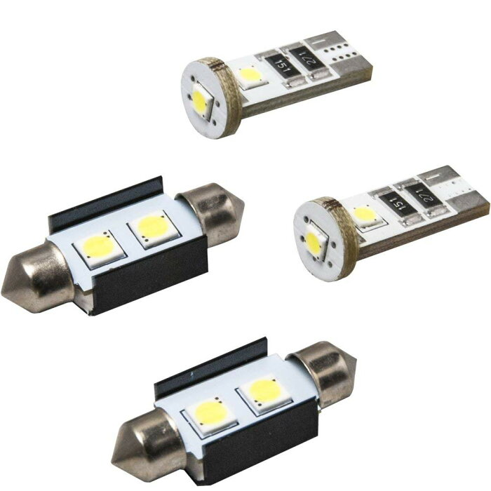 フォルクスワーゲン ニュービートル 9CA SMD LED ポジション&大粒2連ナンバー灯 4個 キャンセラー内蔵 ホワイト