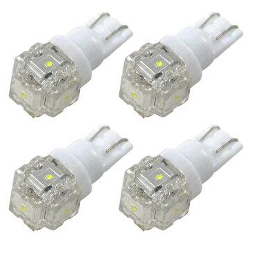 RZH/KZH100系 ハイエース [H11.7〜H16.7] RIDE LED T10 ポジション球&ナンバー灯 4個 ホワイト