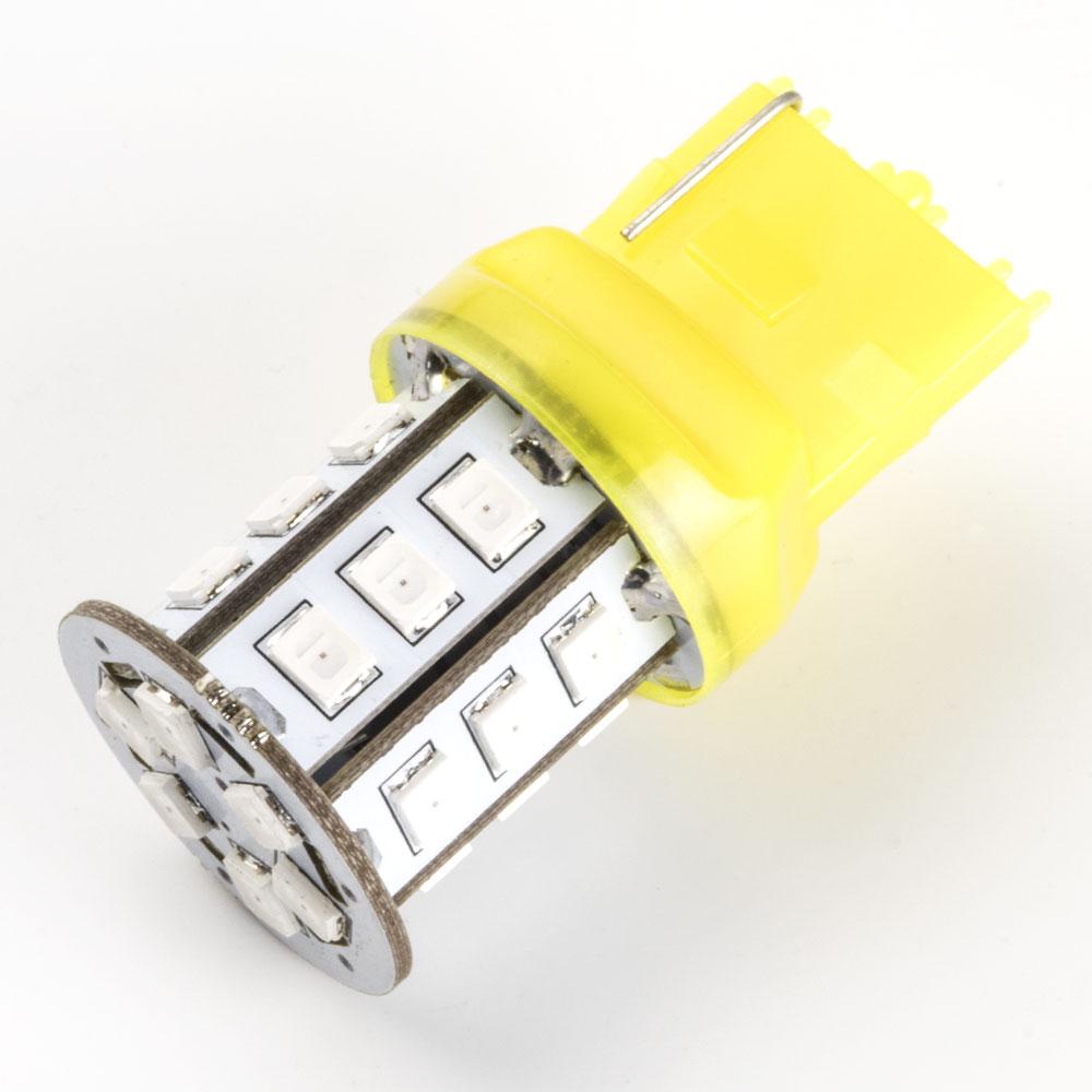 12V 24連 T20 LED 球 オレンジ アンバーウインカー WX3×16d 7440 ピンチ部違い 装着可能