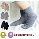 【5本指ソックス/レディース】◆冷えとり靴下◆レディース靴下【絹と綿の重ね履き2足セット★】22〜24cm