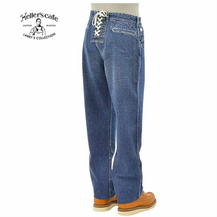 メンズファッション, ズボン・パンツ  HC-114 1930s Hellers cafe Lace-up Denime Work Pants