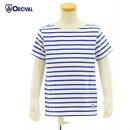 オーチバル・オーシバルRC-9054WHITE/ROYALキッズサイズ40/2コットンボーダーTシャツカットソーORCIVAL