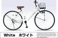 【送料無料!】自転車シティサイクル26インチママチャリカゴカギライト標準装備マイパラスM-512【じてんしゃzitennsya】人気自転車通販プレゼントに最適通勤通学に是非