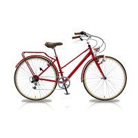 シティサイクル自転車シマノ6段変速700C砲弾ライト泥除けパイプキャリアTRAILLERトレイラーTR-CT701