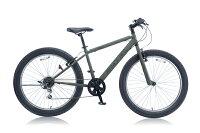 クロスバイク自転車26インチアビレックスAVIREXAV-266FT6段変速MATTOLIVE