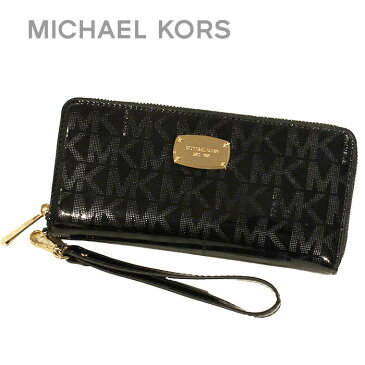 送料無料 マイケルコース MICHAEL KORS 財布 長財布 ショップバッグ付き 35S6MJSZ7Z BLACK ブラック パスポート収納可能 MK SIGNATURE 本革 TRAVEL CONTINENTAL