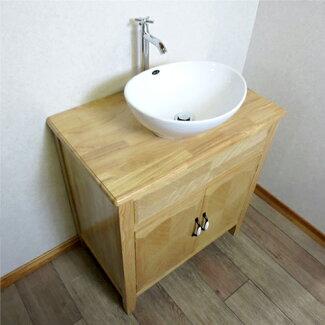 洗面化粧台セット(洗面台・化粧台・木製)ナチュラルINK-0501028Hset