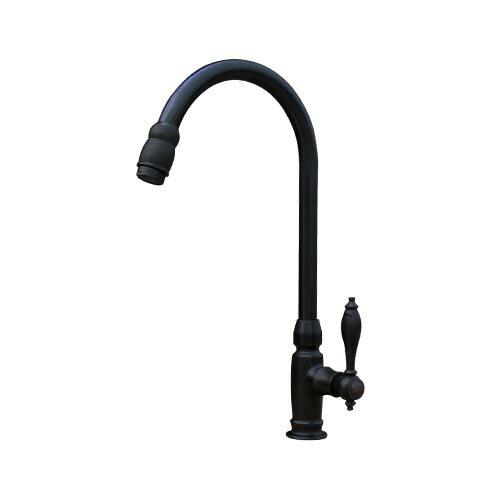 蛇口 単水栓 手洗い 洗面用 黒 ブラック INK-03020046H
