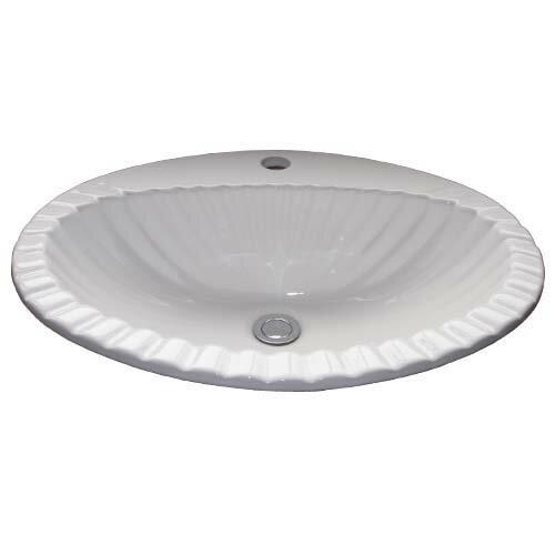 洗面ボウル 埋込 陶器 おしゃれ 洗面台 オーバーフロー有り W580×455×H205 INK-0401008H