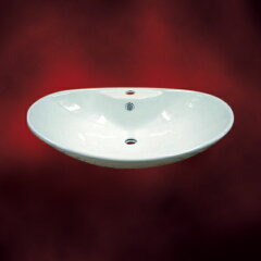シンプルな白でどんな場所にも合う洗面ボウルです-セール-陶器洗面ボウル(手洗い鉢・陶器洗面...