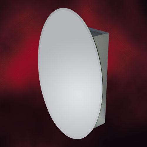 ミラーキャビネット楕円タイプ 701(鏡・洗面化粧台棚・収納・鏡扉)