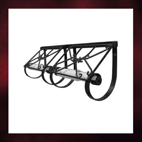 2連トイレットペーパーホルダー(紙巻器・インテリア・飾り・アイアン・アンティーク風) INK-1401...