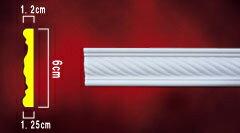 モールディング(窓の化粧飾り・彫刻巾木・内装材・装飾材・デコモール) INK-1302003G