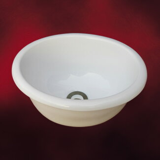 小さい陶器洗面ボウル(コンパクト・手洗い鉢・洗面ボール・洗面台・トイレ用・埋め込み)W345×D270×H160INK-0405050H