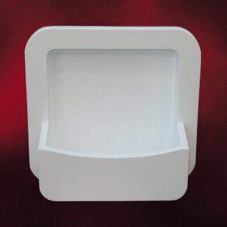 PVC製洗面ボウル(手洗い鉢・ボール・洗面台・壁付け)白・ホワイトW360×D200×H360INK-0417002H