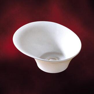 小さい陶器洗面ボール(小・手洗い鉢・陶器洗面ボウル・洗面台・トイレ用・オンカウンターシンク)ink-0405020g