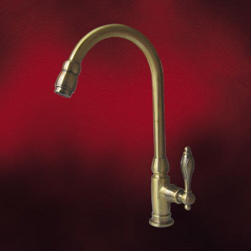 単水栓(手洗器用水栓金具・洗面化粧台用蛇口・水栓蛇口)古金 INK-03020129H
