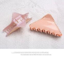 バンスクリップヘアクリップヘアピンレディースアクセサリーワンタッチストーン付きキラキラ三角クリップファッションナブル