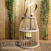キャンドルランタン照明ラタンサスペンドランタンS籐天然木ガラスカップ付キャンドルホルダー