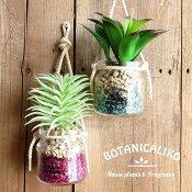 アロマ造花ボタニカリコハンギング吊下げフレグランスガラス瓶観葉植物芳香剤