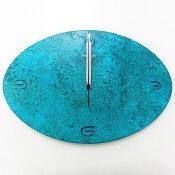 時計壁掛けタイム&スペースオーバルL真鍮ヴィンテージレトロ調サビ柄高岡銅器