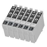 ICBK50 ブラック 6個セット ZAZ 互換インクカートリッジ ICチップ付き 残量表示可能 IC6CL50対応 50系インク IC50シリーズ 50BK