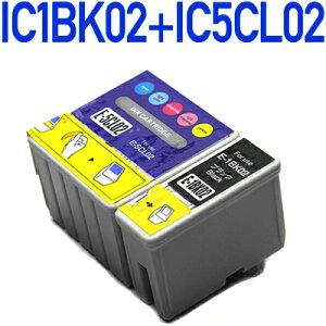 IC1BK02+IC5CL02〔エプソン/EPSON〕対応互換インクカートリッジ6色パック