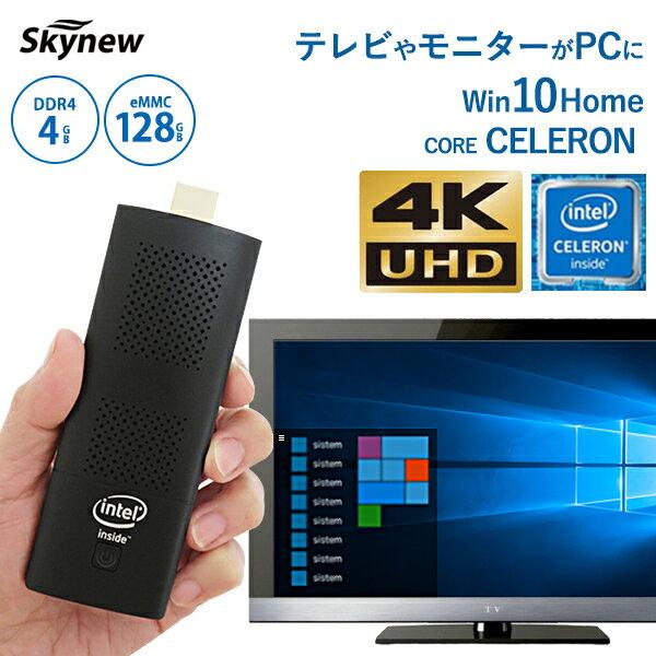 パソコン, スティックPC 21000517 9:591 M1K pc 4K Celeron N4100