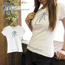 レディース カリビアン ヘンプ グラデ Tシャツ フラダンス...