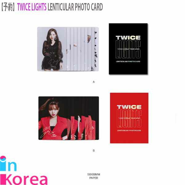 トレーディングカード・テレカ, トレーディングカード TWICE (2) TWICE LENTICULAR PHOTO CARD K-POP TWICE LIGHTS WORLD TOUR 2019 OFFICIAL GOODS TWICE