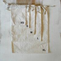 【sizeL,NaturalOrganicCottonDrawstringBag】ナチュラルオーガニックコットンのシンプルな巾着袋【Lサイズ】きんちゃく巾着綿バッグインバッグBaginBag無地生成りシューズ入れ