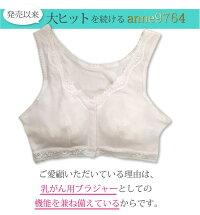 anne9764乳がん用前開きブラジャー術後用