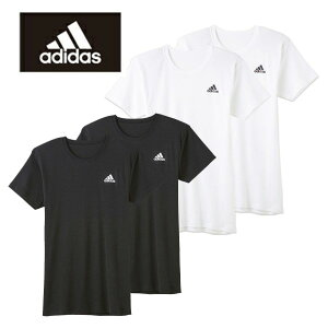 グンゼ【adidas/アディダス】クルーネックTシャツ【2枚セット】APB0132【あす楽_土曜営業】【あす楽_日曜営業】【綿混紡2枚組半袖丸首シャツ】