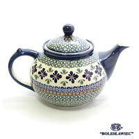 [Boleslawiec/ボレスワヴィエツ陶器]ティーポット(1.25L)-du60