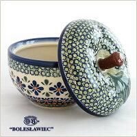 [Boleslawiec/ボレスワヴィエツ陶器]リンゴのポット12.5cm-du60
